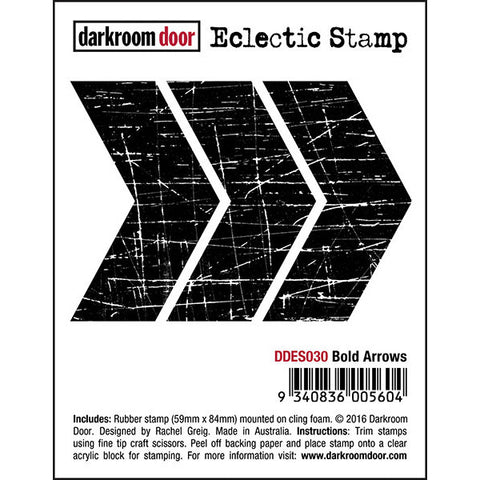 Darkroom Door cling rubber stamp, bold arrows