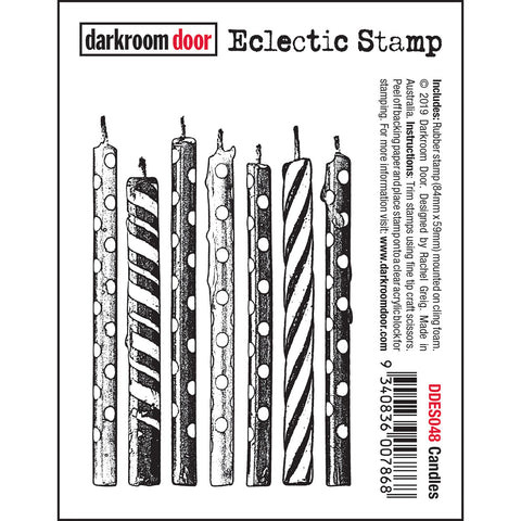 Birthday Candles ... Eclectic Rubber Art Stamp by Darkroom Door