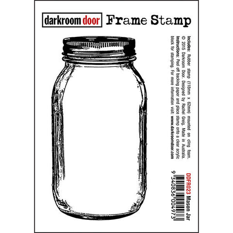 Darkroom Door - Frame Stamp - Mason Jar