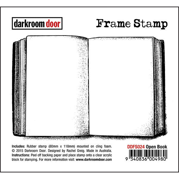 Frame Stamp - Open Book - Darkroom Door