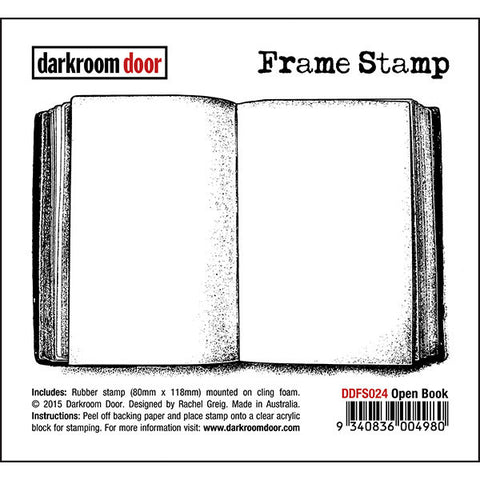 Darkroom Door - Frame Stamp - Open Book