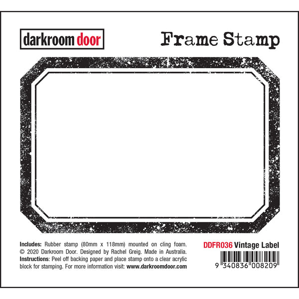 Darkroom Door Frame Stamp - Vintage Label Rectangle