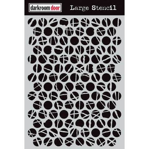 Darkroom Door Stencil - Large - Polka Dots