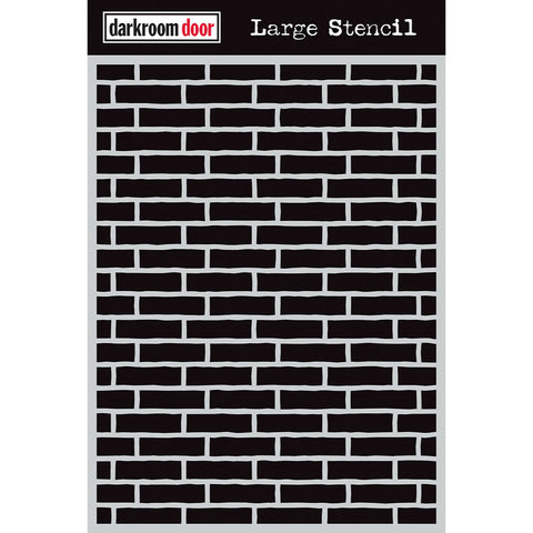 Darkroom Door Stencil - Large - Brick Wall