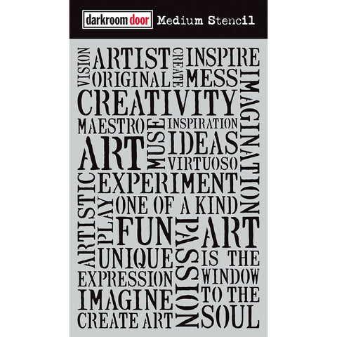 Darkroom Door Stencil - Medium - Creativity