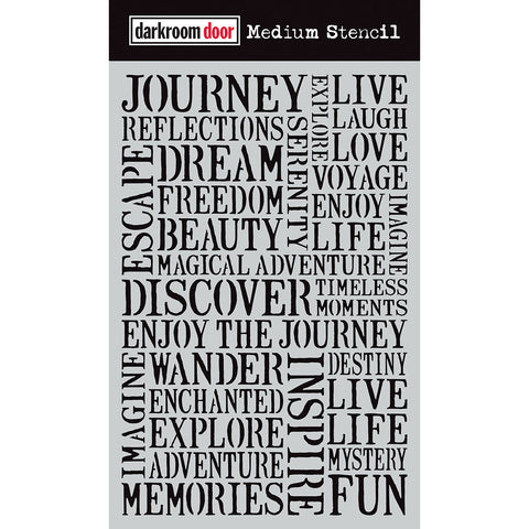 Darkroom Door Stencil - Medium - Journey