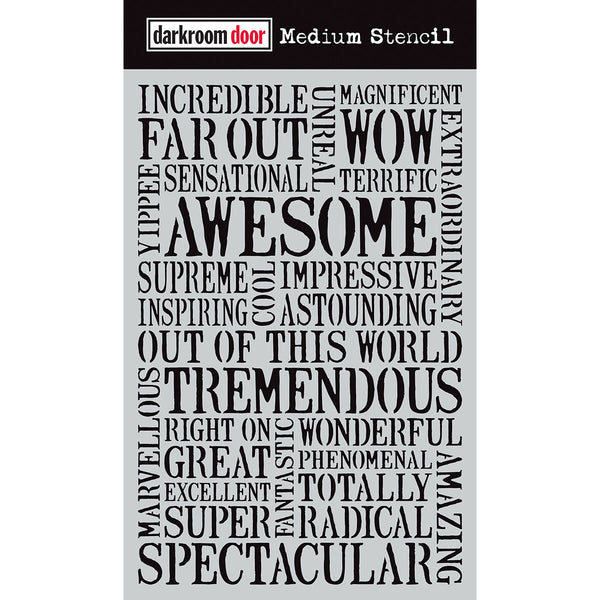 Darkroom Door Stencil - Medium - Awesome
