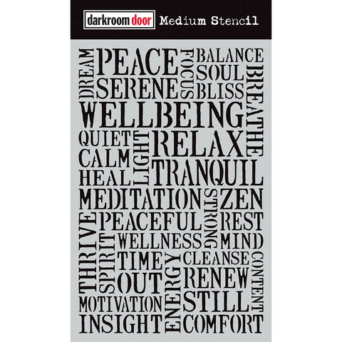 Darkroom Door Stencil - Medium - Wellbeing