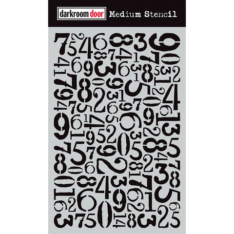 Darkroom Door Stencil - Medium - Number Jumble