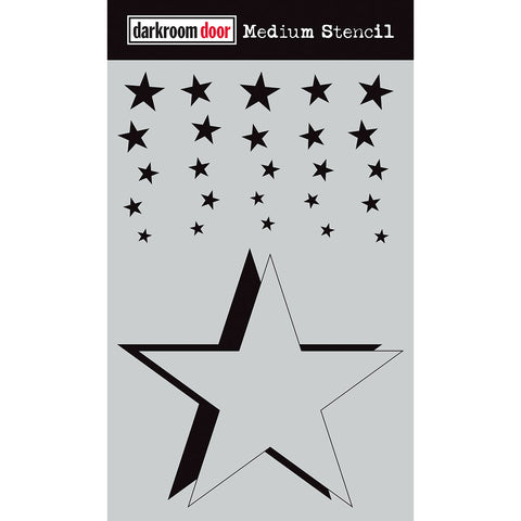 Darkroom Door Stencil and Mask - Medium - Cascading Stars - NEW!