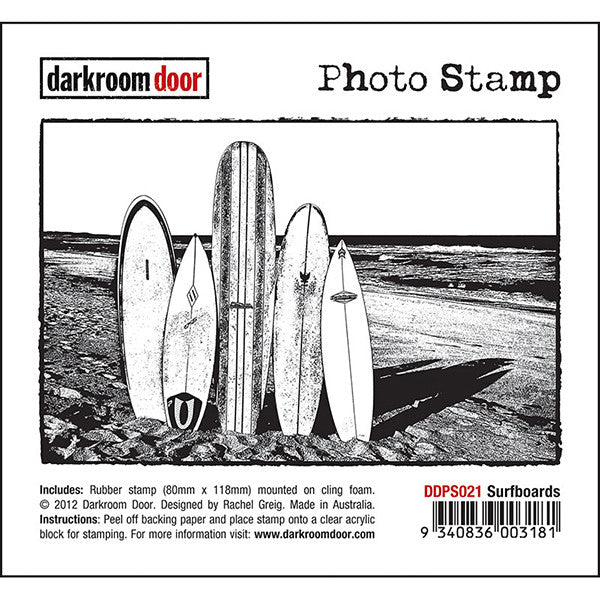 Darkroom Door - Photo Stamp - Surfboards