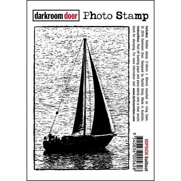 Darkroom Door - Photo Stamp - Sailboat