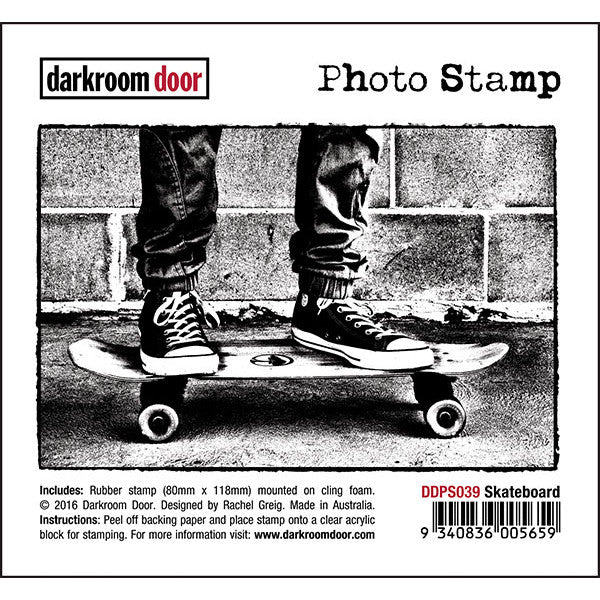 Darkroom Door - Photo Stamp - Skateboard