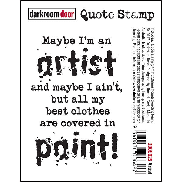 Darkroom Door - Quote Stamp - Artist