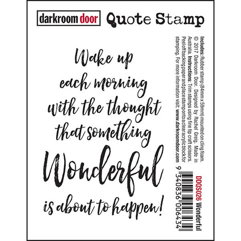 Quote Stamp - Wonderful - Darkroom Door