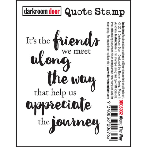 Quote Stamp - Along The Way - by Rachel Greig of Darkroom Door
