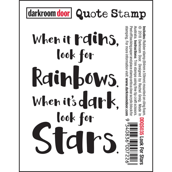 Look For Stars ... a rubber quote stamp by Darkroom Door