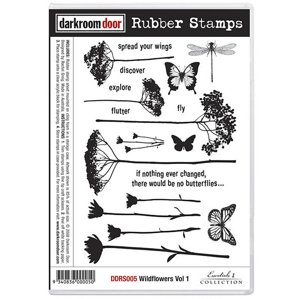 Rubber Stamp Set - Wildflowers vol 1 - Darkroom Door