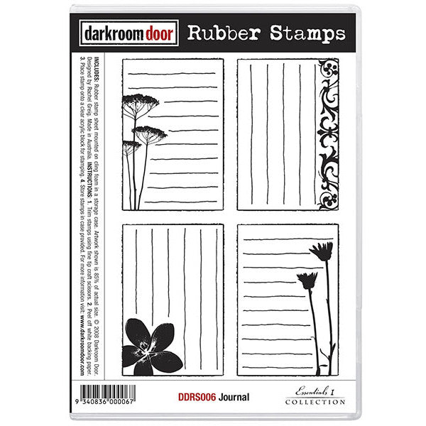 Rubber Stamp Set - Journal - Darkroom Door