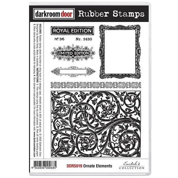 Rubber Stamp Set - Ornate Elements - Darkroom Door