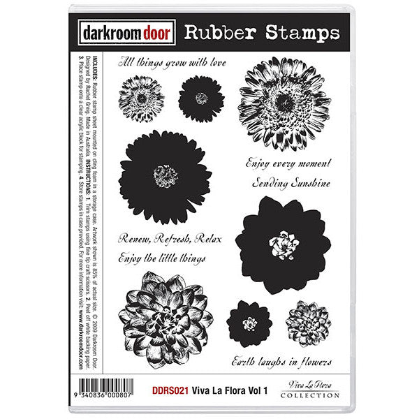 Rubber Stamp Set - Viva la Flora vol 1 - Darkroom Door