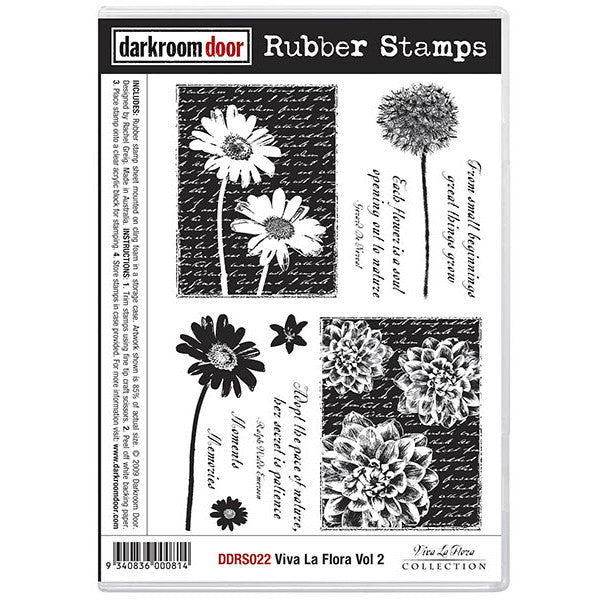 Rubber Stamp Set - Viva la Flora vol 2 - Darkroom Door