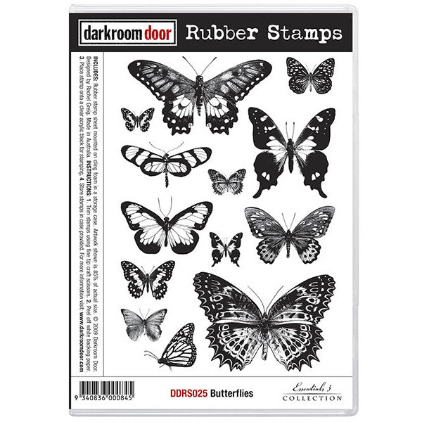 Rubber Stamp Set - Butterflies - Darkroom Door