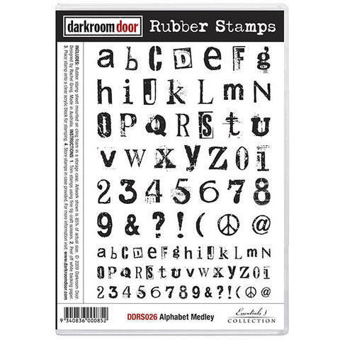 Rubber Stamp Set - Alphabet Medley - Darkroom Door