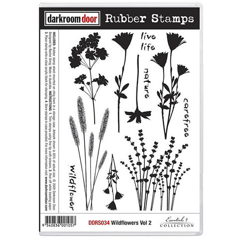 Rubber Stamp Set - Wildflowers vol 2 - Darkroom Door