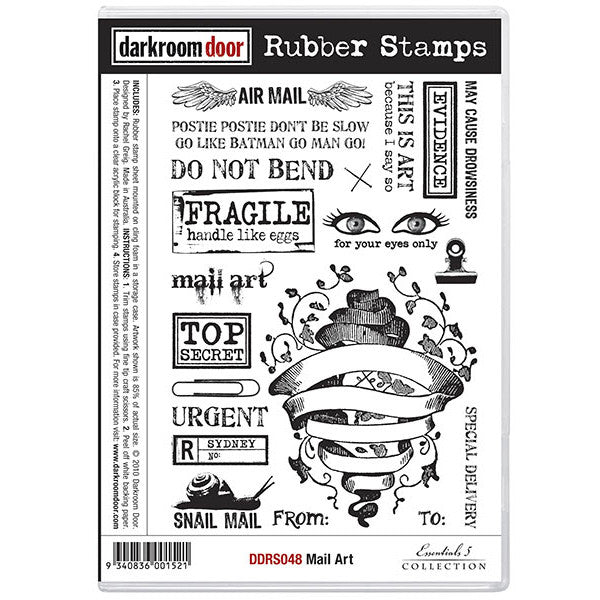 Rubber Stamp Set - Mail Art - Darkroom Door