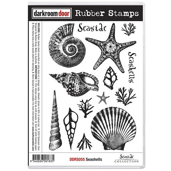 Rubber Stamp Set - Seashells - Darkroom Door
