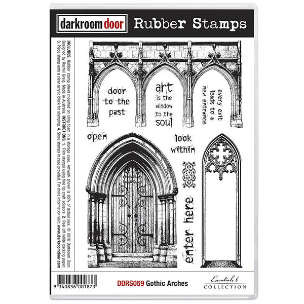 Rubber Stamp Set - Gothic Arches - Darkroom Door