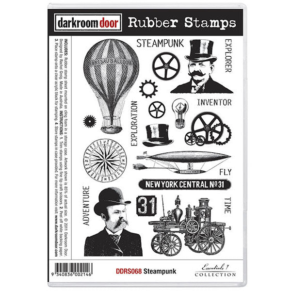 Rubber Stamp Set - Steampunk - Darkroom Door