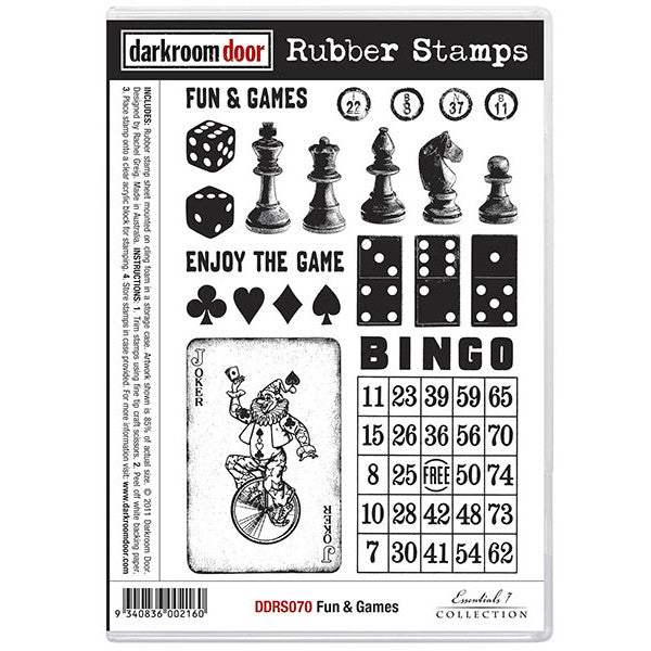 Rubber Stamp Set - Fun and Games - Darkroom Door