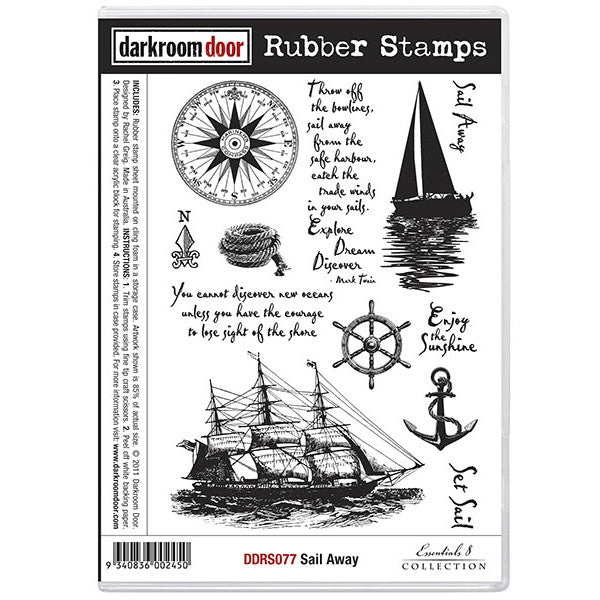 Rubber Stamp Set - Sail Away - Darkroom Door
