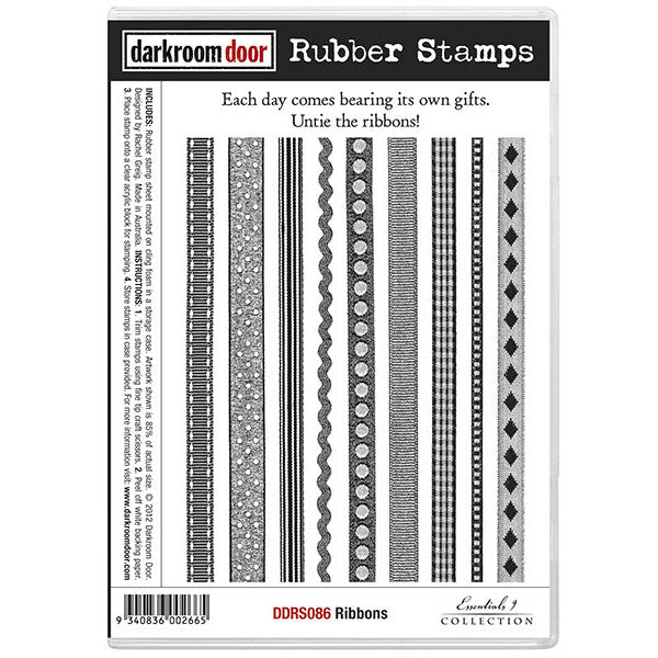 Rubber Stamp Set - Ribbons - Darkroom Door