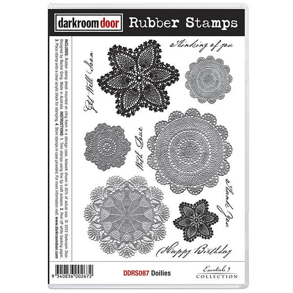 Rubber Stamp Set - Doilies - Darkroom Door