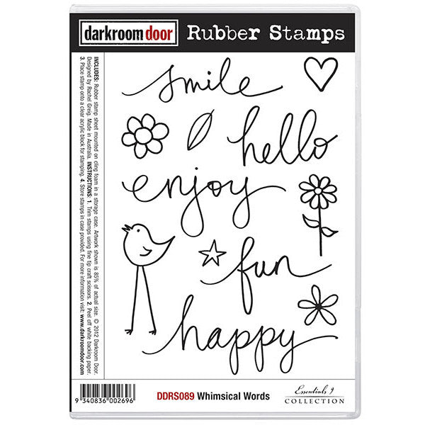 Rubber Stamp Set - Whimsical Words - Darkroom Door