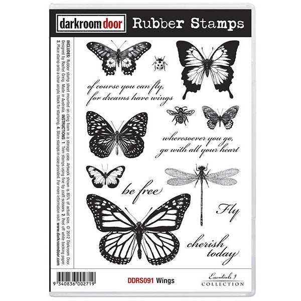 Rubber Stamp Set - Wings - Darkroom Door