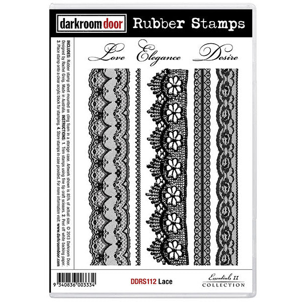Rubber Stamp Set - Lace - Darkroom Door