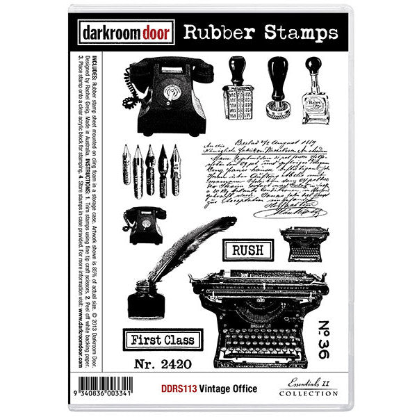 Rubber Stamp Set - Vintage Office - Darkroom Door