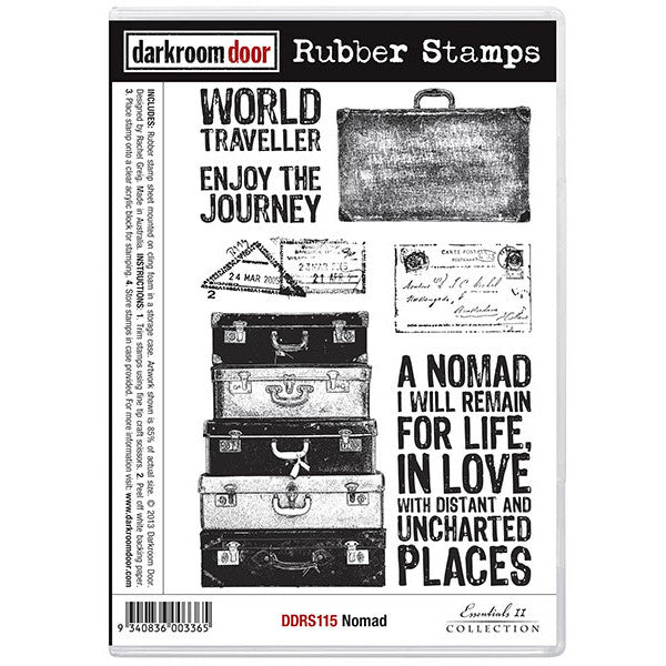 Rubber Stamp Set - Nomad - Darkroom Door