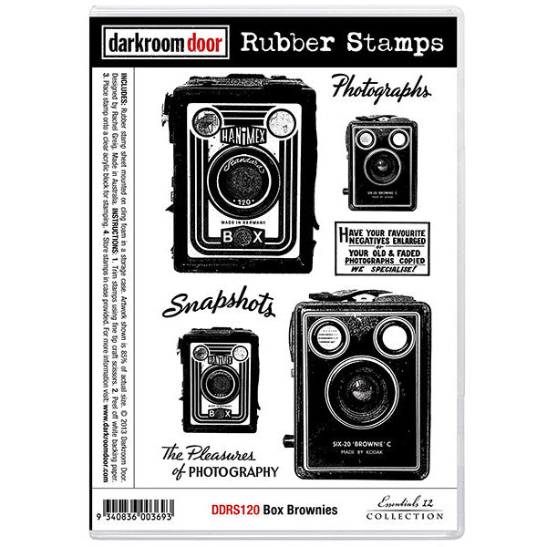 Rubber Stamp Set - Box Brownies - Darkroom Door