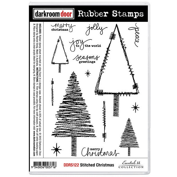 Rubber Stamp Set - Stitched Christmas - Darkroom Door