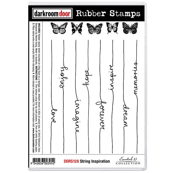 Rubber Stamp Set - String Inspiration - Darkroom Door