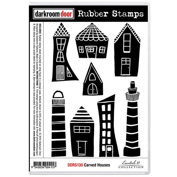 Rubber Stamp Set - Carved Houses - Darkroom Door