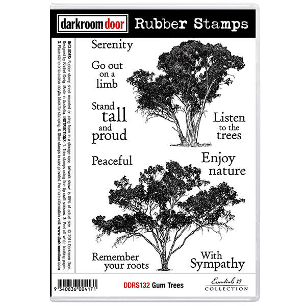 Rubber Stamp Set - Gum Trees - Darkroom Door