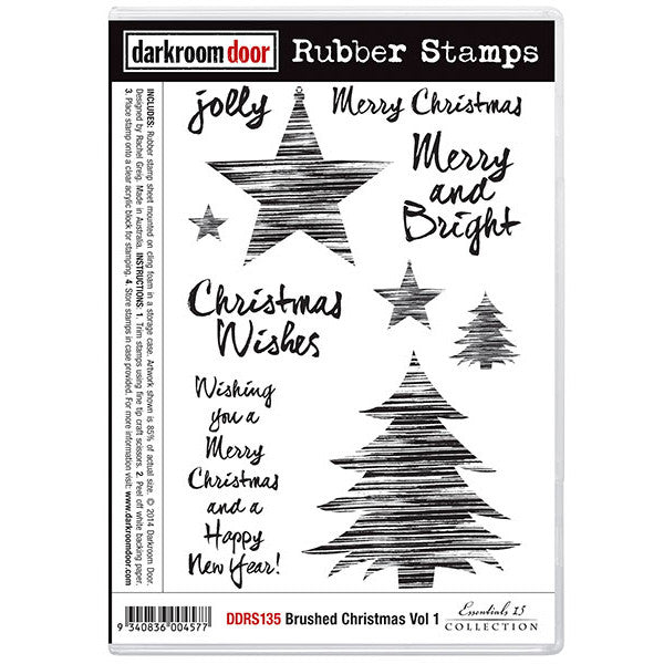 Rubber Stamp Set - Brushed Christmas vol 1 - Darkroom Door