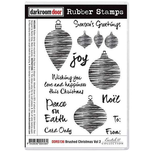 Rubber Stamp Set - Brushed Christmas vol 2 - Darkroom Door