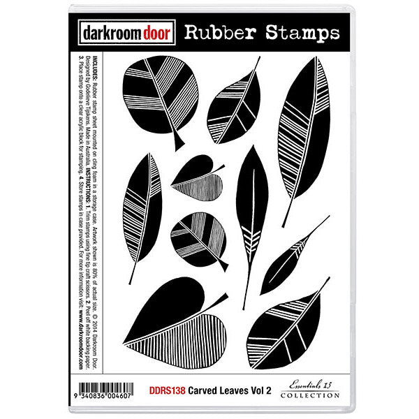 Rubber Stamp Set - Carved Leaves vol 2 - Darkroom Door